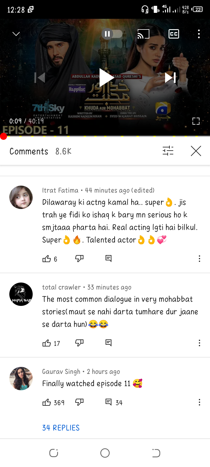 Public Opinion on Khuda Aur Mohabbat 3 Episode 11