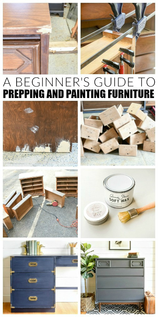 Beginner guide to prepping and painting furniture