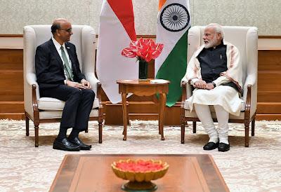 Singapore Minister Tharman Shanmugaratnam meets on PM Narendra Modi