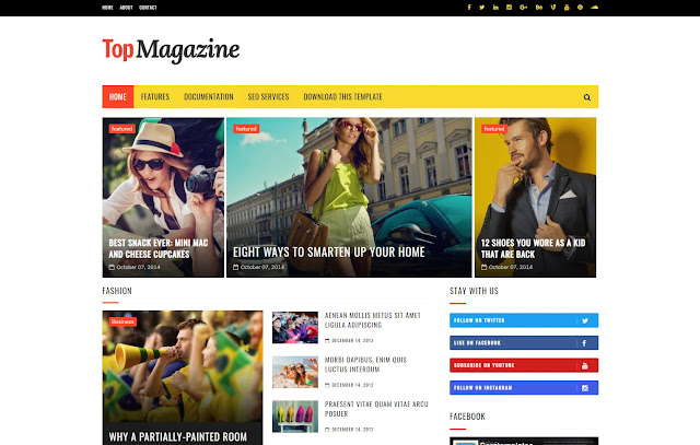 Top Magazine Responsive Magazine News Sites Tips and Tricks Lifestyle Blogger Template Theme