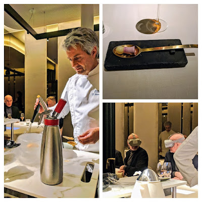 High Tech Bilbao Food: Liquid nitrogen and virtual reality with dessert at Atelier Etxanobe
