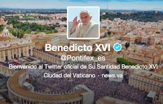 Así luce el twitter de su santidad