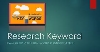 Memilih Kata Kunci Yang Tepat Untuk Blog Anda