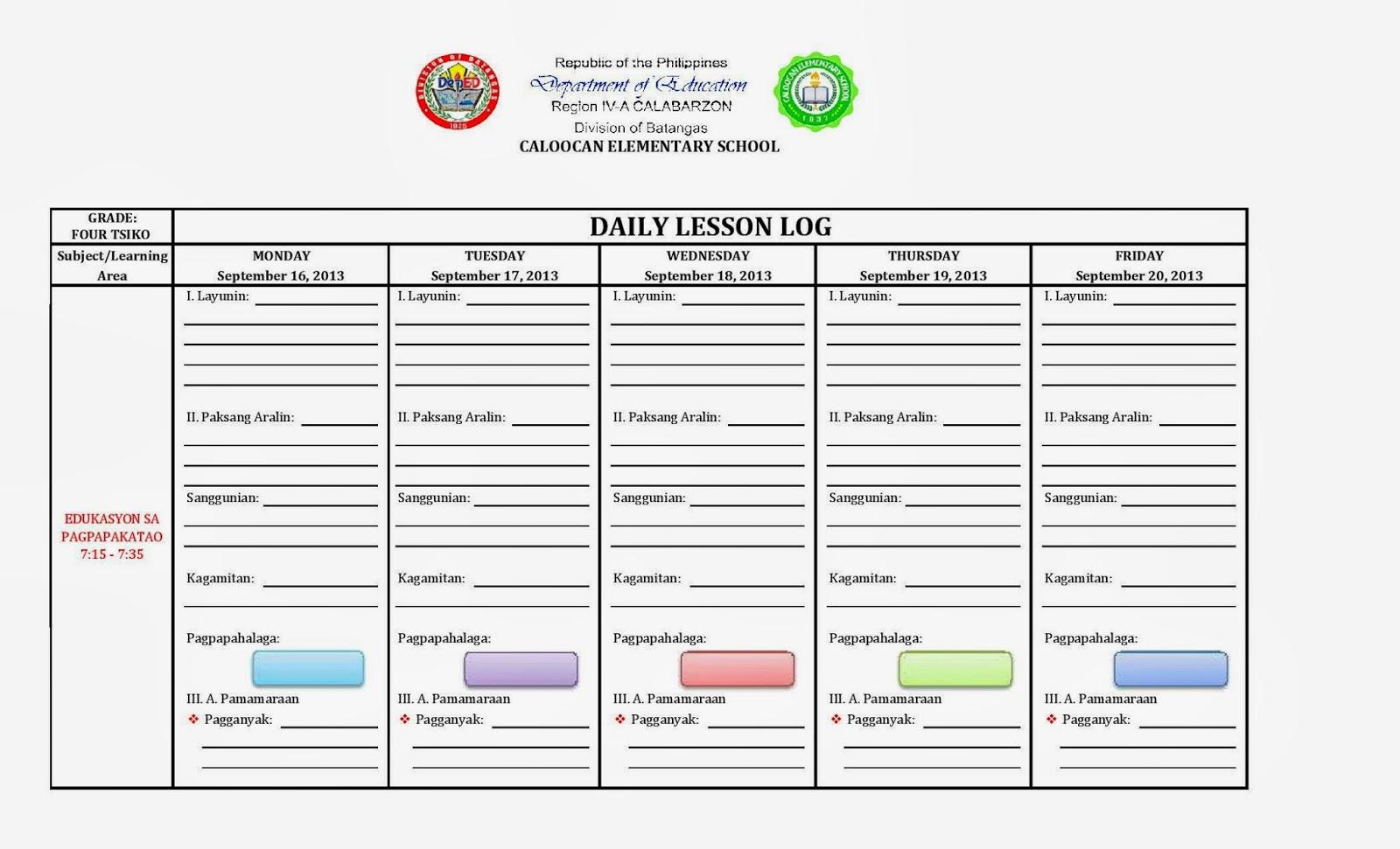 Lesson Plan For Grade 11 Filipino