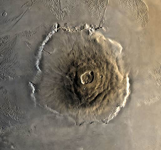 Olympus Mons - largest volcano in the solar system