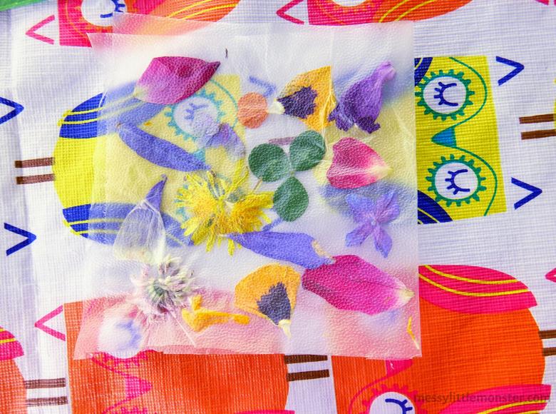 easy nature suncatcher craft for kids using press n sea