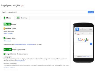 Mengukur kecepatan loading blog dengan PageSpeed Insights