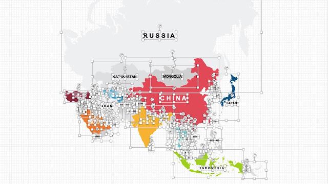 Peta negara-negara di kawasan ASIA