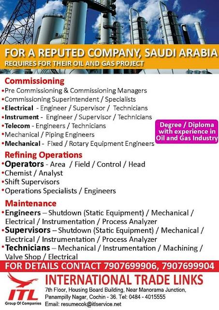 Saudi Arabia Oil and Gas Project