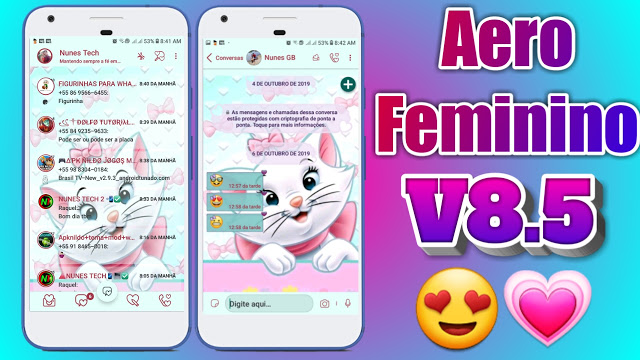 WhatsApp Aero Feminino 8.5 APK free download latest version