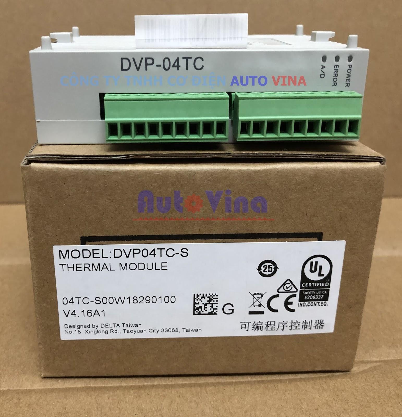 Đại lý bán DVP04TC-S module 4 kênh nhiệt độ Thermocouple J K R T S