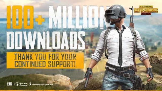 PUBG Mobile 100 million downloads