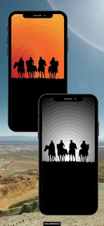 four horseman red dead redemption 1 and 2 wallpaper for phone sunset riders horse western