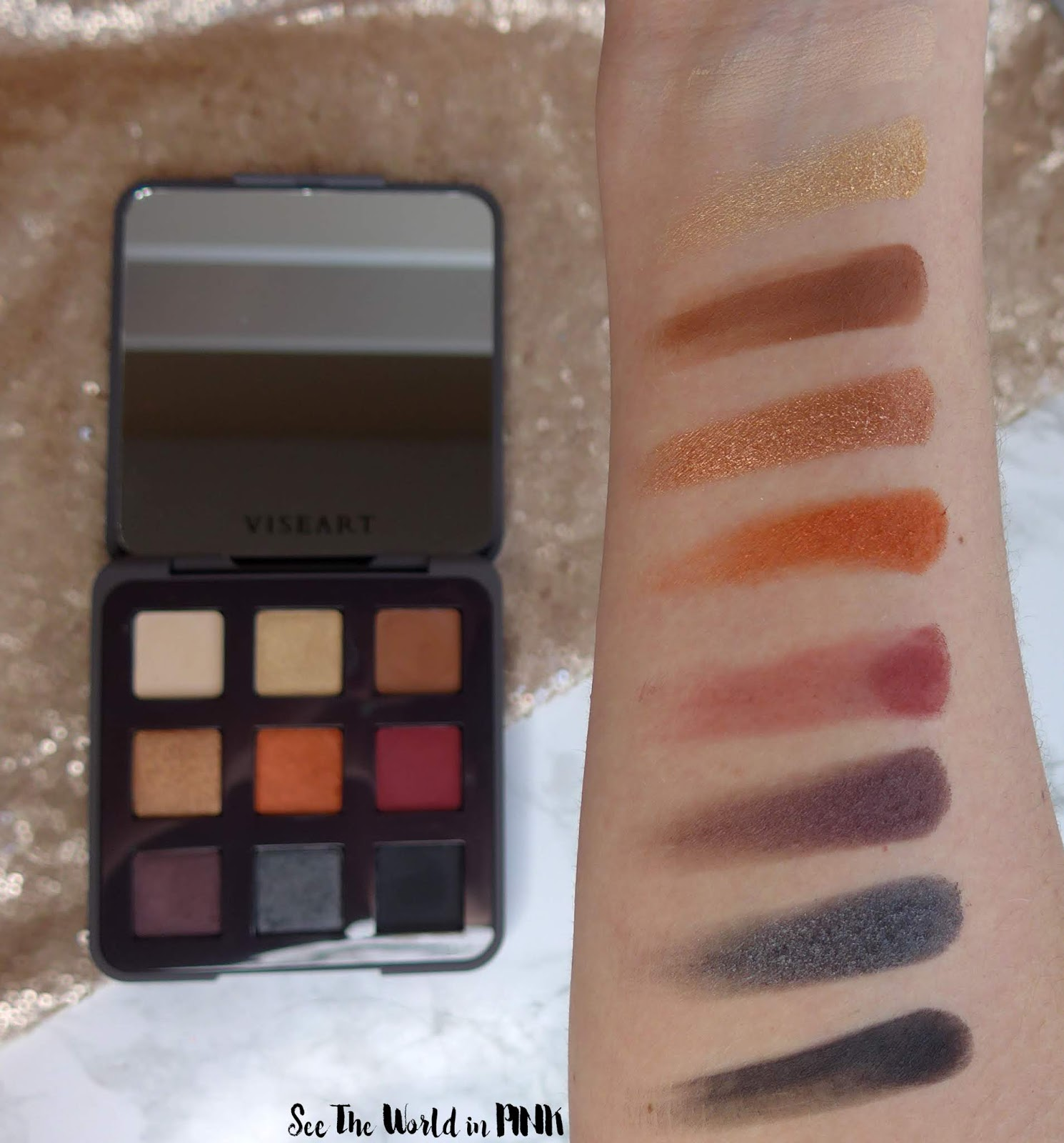 Viseart Golden Hour Eyeshadow Palette - 3 Looks, Swatches, and Review