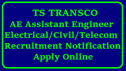 TS TRANSCO AE Assistant Engineer Electrical/Civil/Telecom Posts 330 Vacancies - Apply Online Telangana TRANSCO Inviting Online Application Form from B.Tech CIVIL Electrical and Telecomunications Electronics Communication Engineering candidates at Official website www.tstransco.cgg.gov.in for AE Posts. Apply Online for Assistant Engineer Civil Electrical Telecom posts Educational Qualifications Exam Dates Syllabus Scheme of Examination Selection Procedure Detailed Notification TSTRANSCO AE Notification 2018 Apply Online / TSTRANSCO AE Recruitment 2018 Apply Online / TSTRANSCO AE Recruitment 2018 Eligibility & Selection Process at www.transco.telangana.gov.in. TSTRANSCO AE Recruitment 2018 - Apply 330 Assistant Engineer Posts: TSTRANSCO AE Current Notification 2018, TSTRANSCO Assistant . Telangana TRANSCO AE Recruitment 2018: TS TRANSCO invites the applications from the eligible candidates to fill 330 (300 General Recruitment + 30 Limited/2018/01/ts-transco-ae-assistant-engineer-civil-electrical-telecom-vacancies-application-form-notification-downloadapply-online-vacancy-list.html