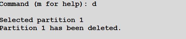delete disk partition