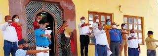 कुलपति प्रो. मौर्य ने पूविविकर्मियों को दिलायी शपथ | #NayaSaberaNetwork