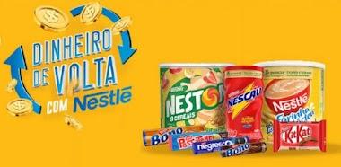 Experimente Grátis: Invista em um dos produtos da Nestlé e receba até 30% do seu dinheiro de volta