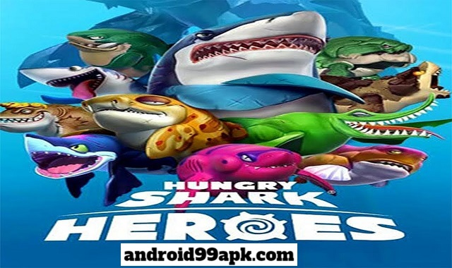 لعبة Hungry Shark Heroes v3.2 مهكرة كاملة بحجم 504 MB للأندرويد
