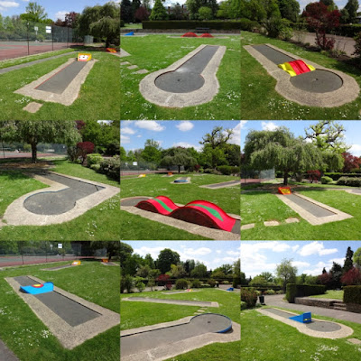 The Crazy Golf course in Woking Park, May 2016