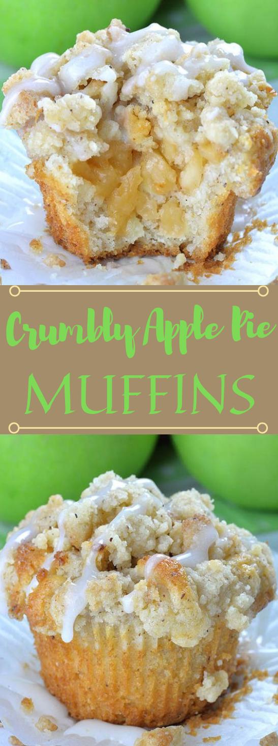 Apple Pie Muffins with Streusel Crumbs #cake #lasagna #dessert #maknyus #pie