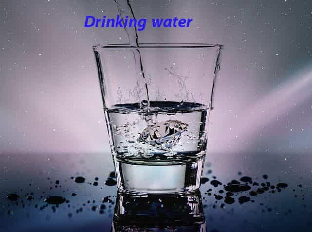 1.شرب الماء