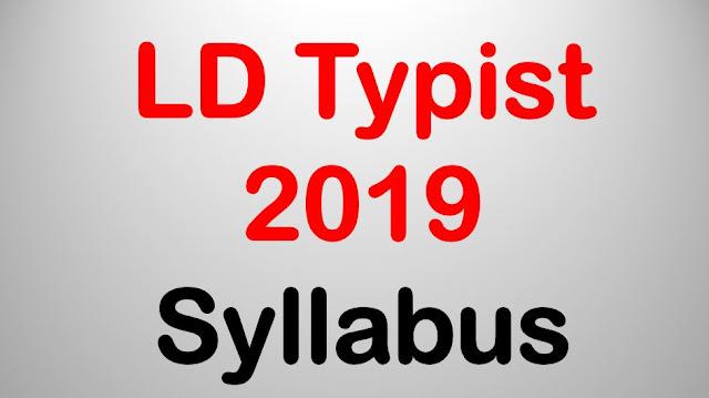 LD Typist 2019 - Syllabus