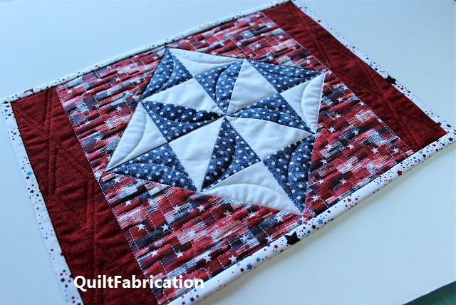 quilted and finished Holiday Star place mat