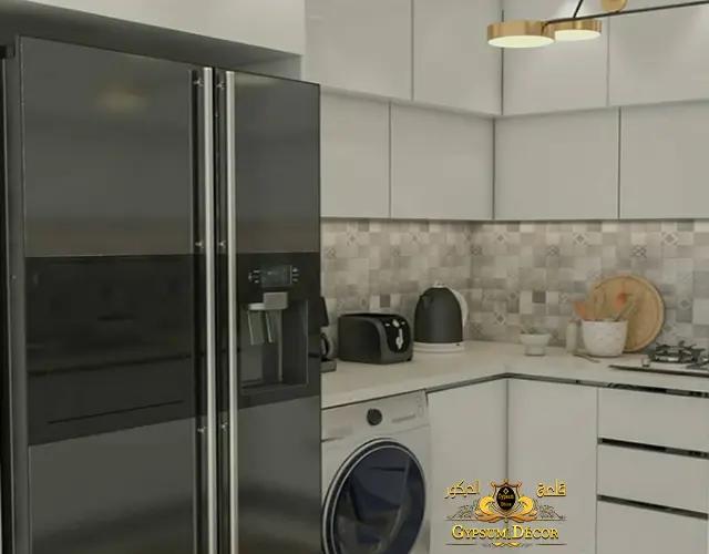ديكورات مطابخ مودرن مع الثلاجة