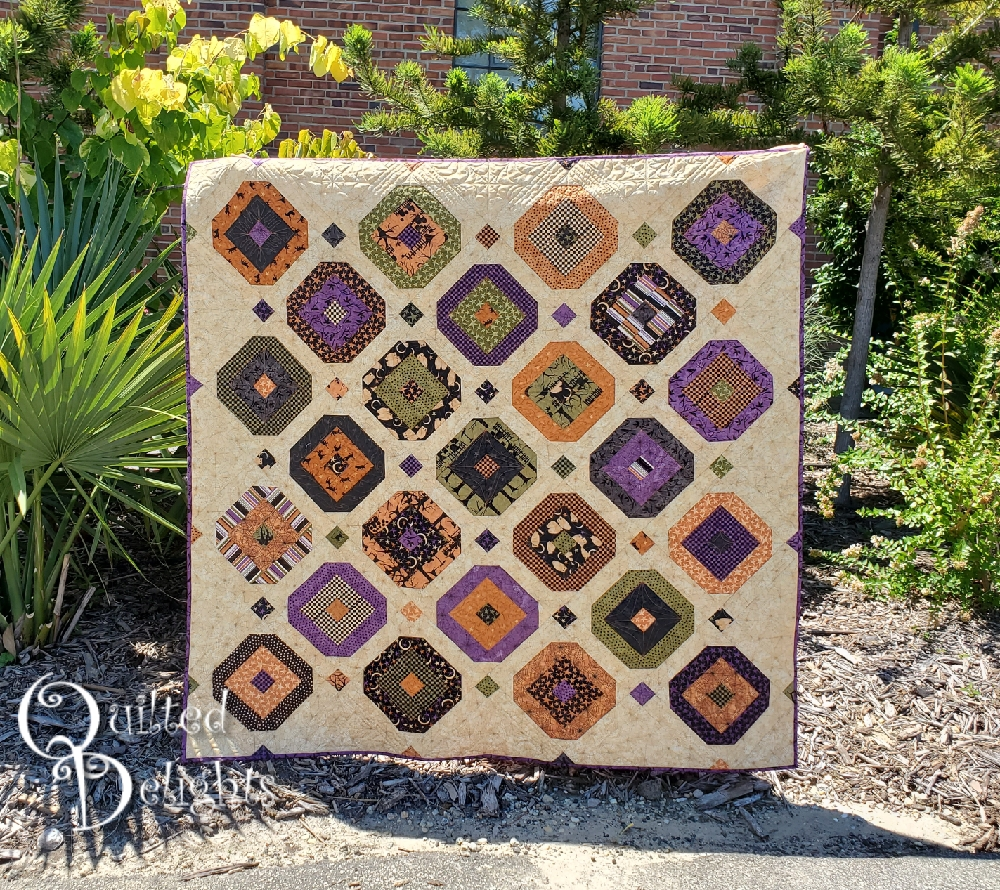 Quilted Delights That 70\u0027s Halloween Quilt , 1st Finish Q3 FAL