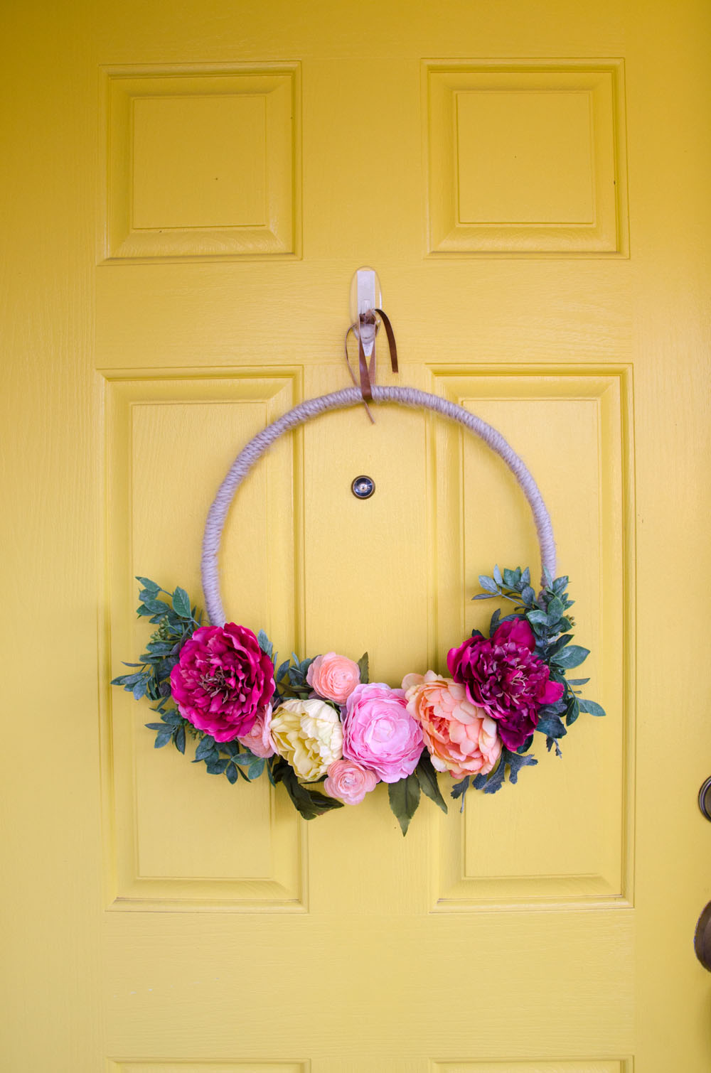 how to make a modern spring wreath