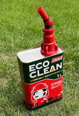 コールマン ホワイトガソリン1L缶とガソリンフィラー