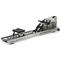 WaterRower S1 Rowing Machine, modern stainless steel construction, water flywheel for a true rowing feel