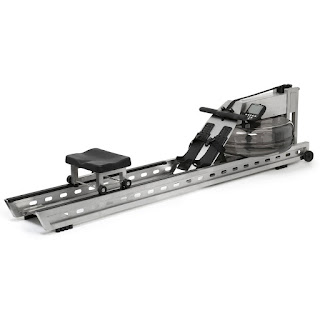 WaterRower S1 Rowing Machine in modern brushed stainless steel, image, review features & specifications