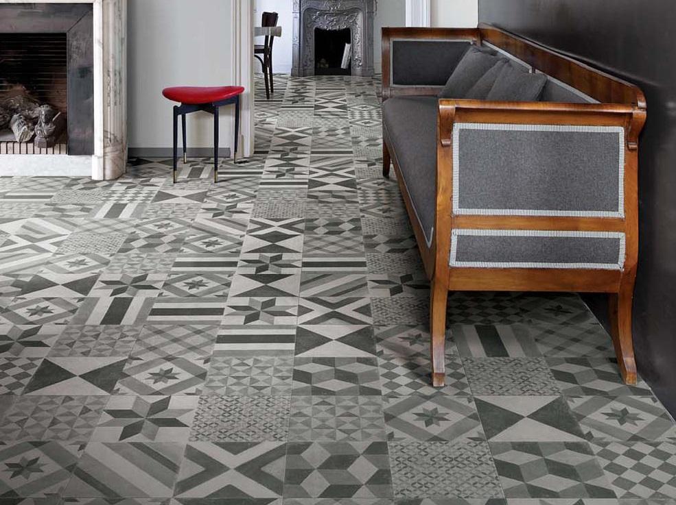 Impreziosire lo stile classico con un pavimento in cementine decorate con forme geometriche
