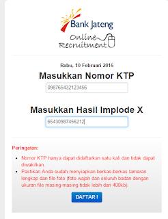 Mencari Implode x Pada Informasi Lowongan Kerja Bank Jateng