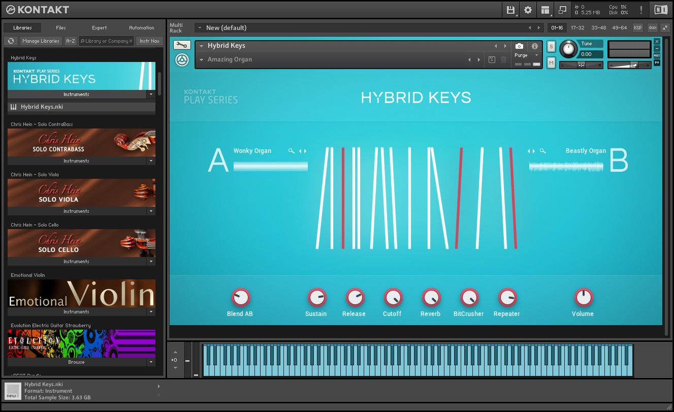 Native Instruments - Hybrid Keys KONTAKT Library