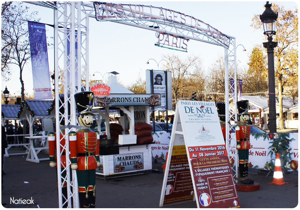 Le marché de Noël des Champs-Elysées 2016