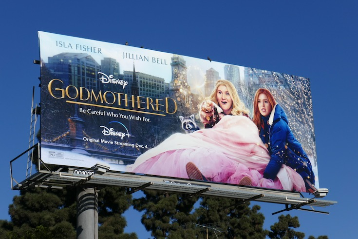 Disney Godmothered film billboard