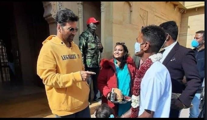 स्वर्णनगरी जैसलमेर में चल रही है फ़िल्म 'बच्चन पांडे' की शूटिंग, अक्षय कुमार गैंगस्टर व कृति सेनन पत्रकार के रोल में