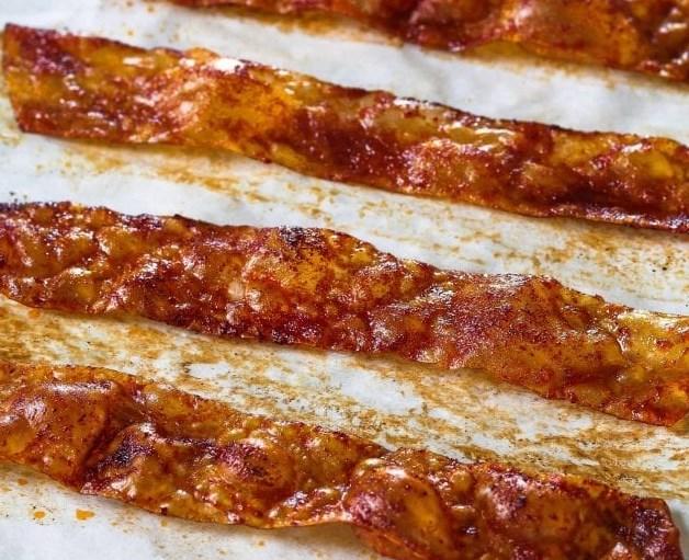 Rice Paper Vegan Bacon Recipe #breakfast #vegetarian