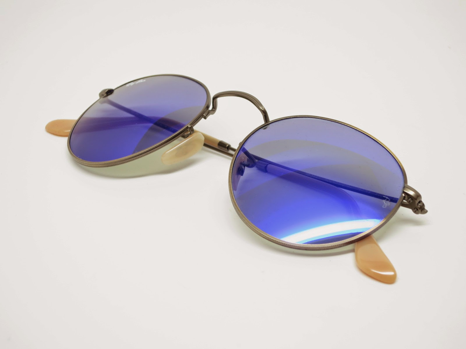 e72f9d236c Ray-Ban RB 3447 Round Metal 167 68 Blue Mirrored Sunglasses