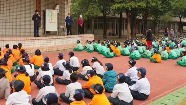 員林警分局校園宣導交通安全 用路安全從小學起
