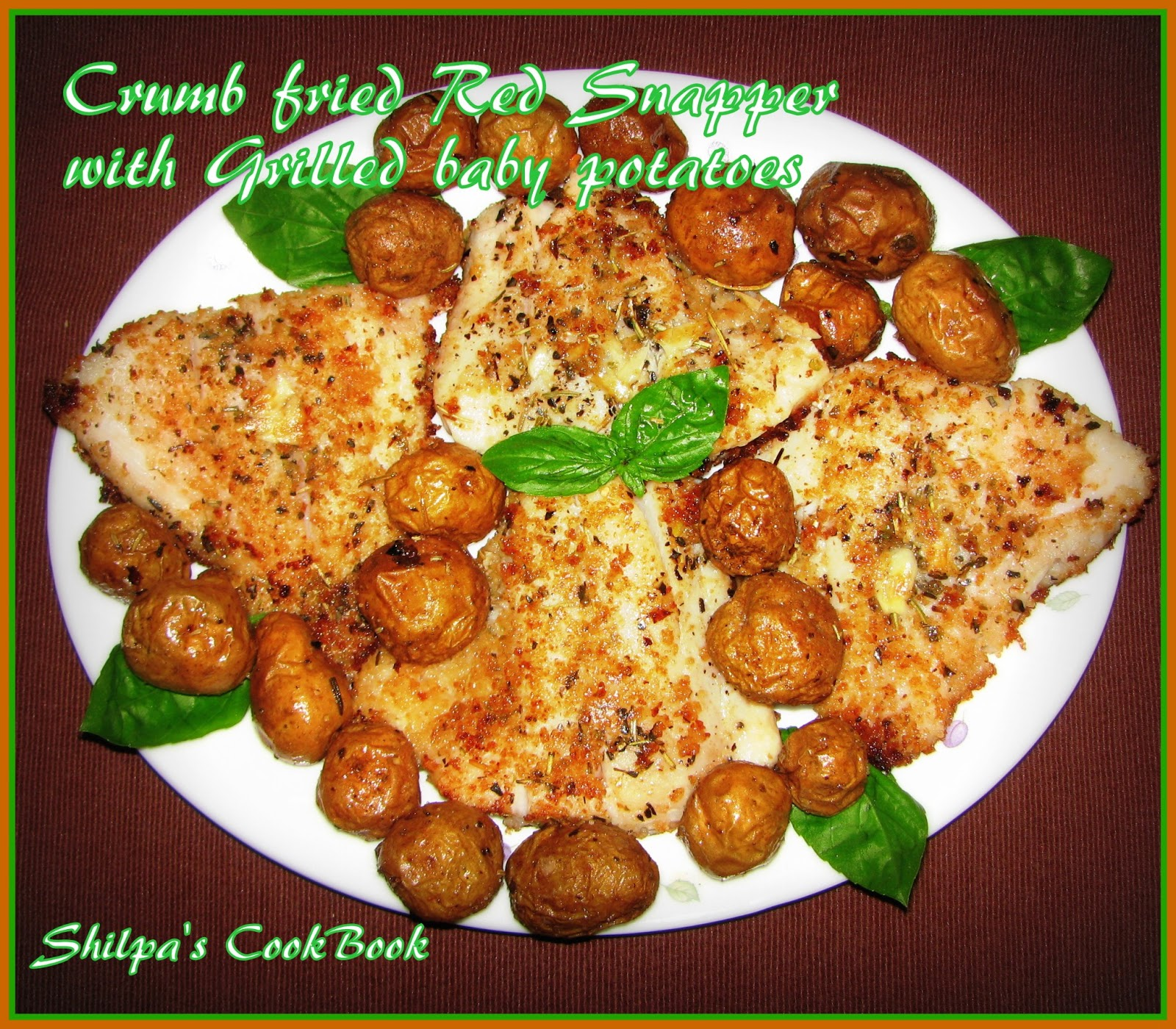 Cook book crumb fried red snapper with grilled baby potatoes crumb fried red snapper with grilled baby potatoes forumfinder Choice Image