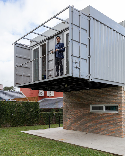 Casa Conteiner RD - 350 sqm Two Story Shipping Container Home, Brazil 21
