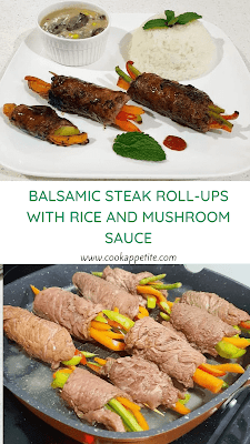 The balsamic steak rolls look incredible and taste great. I know they look like they are hard to make but the reality is they are really easy. I honestly can't say enough about this meal but it's deliciously healthy and it's super impressive. These steak rolls don't require a lot of pre-time. These steak rolls don't require a lot of pre-time.