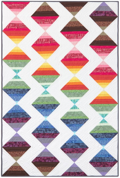 Seasons Quilt designed by Robert Kaufman Fabrics, featuring BluePrint Basics Valori wells