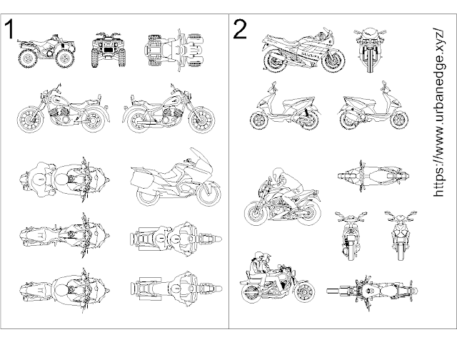 Motorbikes and Motorcycles free cad blocks download - 20+ free motorcycle cad blocks