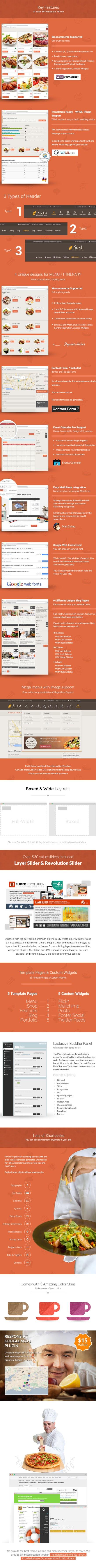 Download Free Sushi v2.1 Responsive Restaurant WordPress Theme