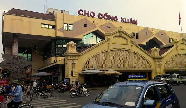 Marché de Dong Xuan à Hanoi